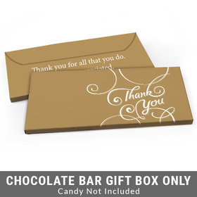 Deluxe Personalized Script Business Thank You Candy Bar Favor Box