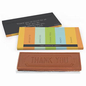 Deluxe Personalized Multi Language Business Thank You Chocolate Bar in Gift Box