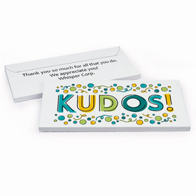 Deluxe Personalized Kudos Business Thank You Hershey's Chocolate Bar in Gift Box