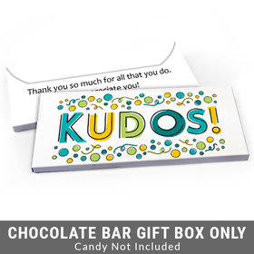 Deluxe Personalized Kudos Business Thank You Candy Bar Favor Box