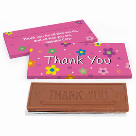 Deluxe Personalized Flowers Business Thank You Chocolate Bar in Gift Box