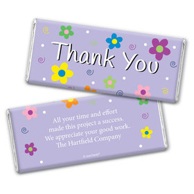 Dazzling Daisy Personalized Candy Bar - Wrapper Only