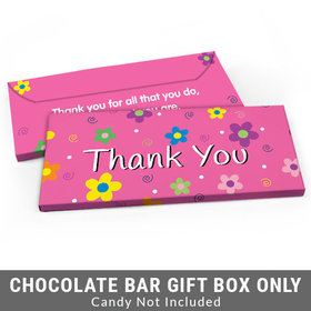 Deluxe Personalized Flowers Business Thank You Candy Bar Cover