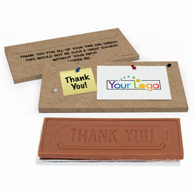 Deluxe Personalized Add Your Logo Business Thank You Chocolate Bar in Gift Box