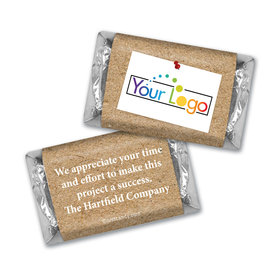 Personalized Hershey's Miniatures - Thank You Post It Thanks with Logo