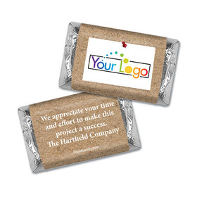Personalized Hershey's Miniature Wrappers Only - Thank You Post It Thanks with Logo