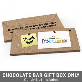 Deluxe Personalized Add Your Logo Business Thank You Candy Bar Cover
