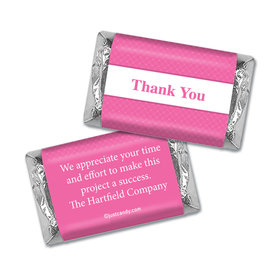 Personalized Hershey's Miniature Wrappers Only - Thank You Classic Crisscross