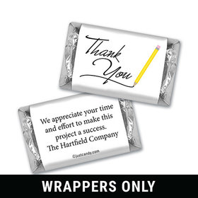 Personalized Hershey's Miniature Wrappers Only - Thank You Pencil Hand Written