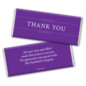 Simple Thanks Personalized Candy Bar - Wrapper Only