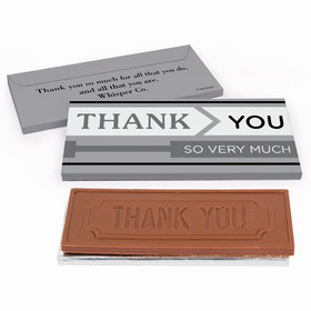 Deluxe Personalized To the Point Business Thank You Chocolate Bar in Gift Box