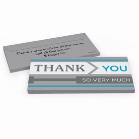 Deluxe Personalized To the Point Business Thank You Hershey's Chocolate Bar in Gift Box
