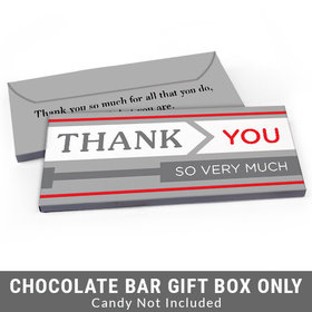 Deluxe Personalized To the Point Business Thank You Candy Bar Favor Box