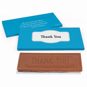Deluxe Personalized Pin Dots Business Thank You Chocolate Bar in Gift Box