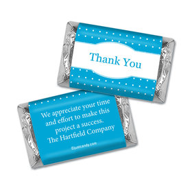 Personalized Hershey's Miniature Wrappers Only - Thank You Pin Dots