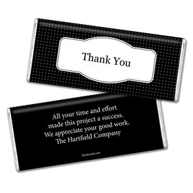 Thank You Personalized Chocolate Bar Pin Dots