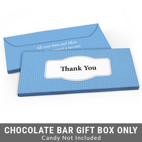 Deluxe Personalized Pin Dots Business Thank You Candy Bar Favor Box