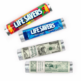 Personalized Thank You Thanks a million Lifesavers Rolls (20 Rolls)