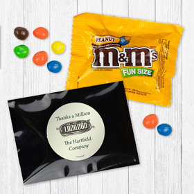 Personalized Business Thanks a Million - Peanut M&Ms