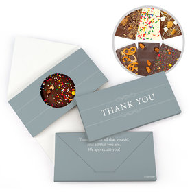 Personalized Simple Thank You Gourmet Infused Belgian Chocolate Bars (3.5oz)