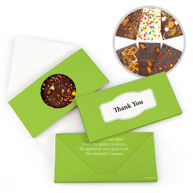 Personalized Pin Dots Thank You Gourmet Infused Belgian Chocolate Bars (3.5oz)
