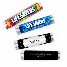 Personalized Thank You Pin Dots Lifesavers Rolls (20 Rolls)