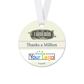 Personalized Thank You To the Point Round Favor Gift Tags (20 Pack)