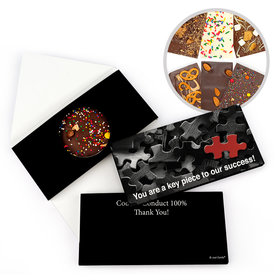 Personalized Puzzle Key Piece Thank You Gourmet Infused Belgian Chocolate Bars (3.5oz)