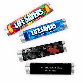 Personalized Thank You Business Key Piece Lifesavers Rolls (20 Rolls)