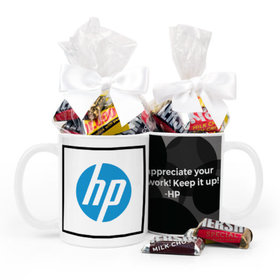 Personalized Add Your Logo 11oz Mug with Hershey's Miniatures