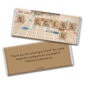 Personalized Chocolate Bar Wrappers Only - Thank You Scrabble Success