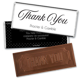 Personalized Dotted Thank you Embossed Chocolate Bar & Wrapper