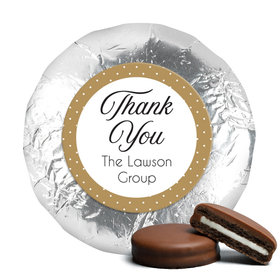 Peerless Business Favor Stickers Personalized Chocolate Covered Foil Oreos (24 Pack)