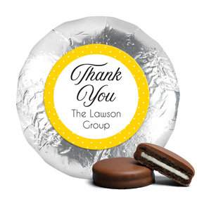 Peerless Business Favor Stickers Personalized Chocolate Covered Foil Oreos