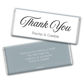 Personalized Dotted Thank you Chocolate Bar & Wrapper
