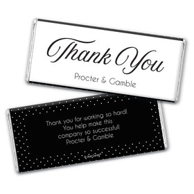 Personalized Dotted Thank you Chocolate Bar Wrappers