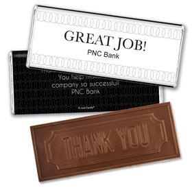 Personalized Thank You Great Job Embossed Chocolate Bar & Wrapper