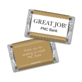Personalized Great Job Hershey's Miniature Wrappers Only - Thank You Pin Dots