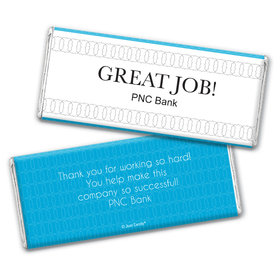 Personalized Thank You Great Job Chocolate Bar & Wrapper