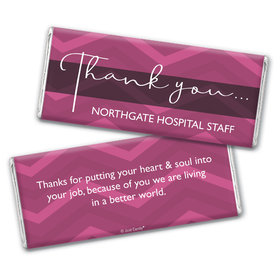 Personalized Thank You Chevron Chocolate Bars