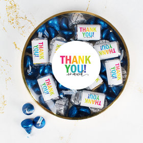 Thank You Large Plastic Tin Hershey's Miniatures, Hershey's Kisses & Peanut Butter Cups