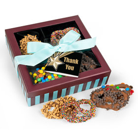 Personalized Thank You Tag Chocolate Covered Pretzels Gift Box (13 pieces)
