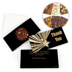 Personalized Gold Star Thank You Gourmet Infused Belgian Chocolate Bars (3.5oz)