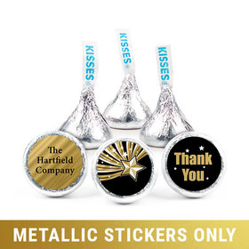 "Personalized 3/4"" Stickers - Metallic Thank You Shining Star (108 Stickers)"