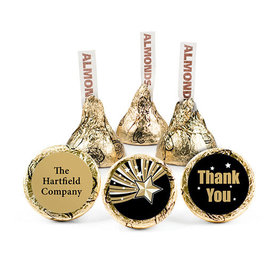 Personalized Thank You Gold Star Hershey's Kisses (50 pack)