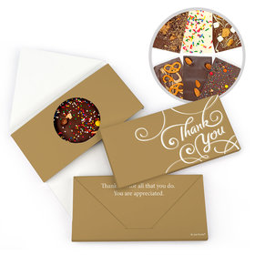 Personalized Scroll Thank You Gourmet Infused Belgian Chocolate Bars (3.5oz)