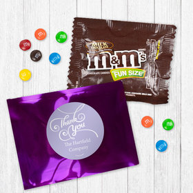 Personalized Business Thank You Scroll - Milk Chocolate M&Ms