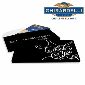 Deluxe Personalized Thank You Scroll Business Ghirardelli Peppermint Bark Bar in Gift Box (3.5oz)