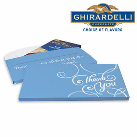 Deluxe Personalized Thank You Scroll Business Ghirardelli Chocolate Bar in Gift Box