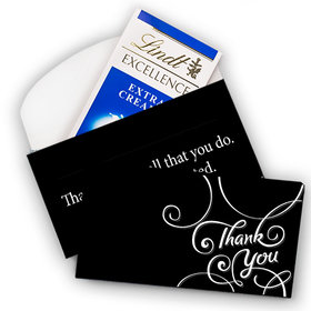 Deluxe Personalized Business Thank You Scroll Lindt Chocolate Bar in Gift Box (3.5oz)